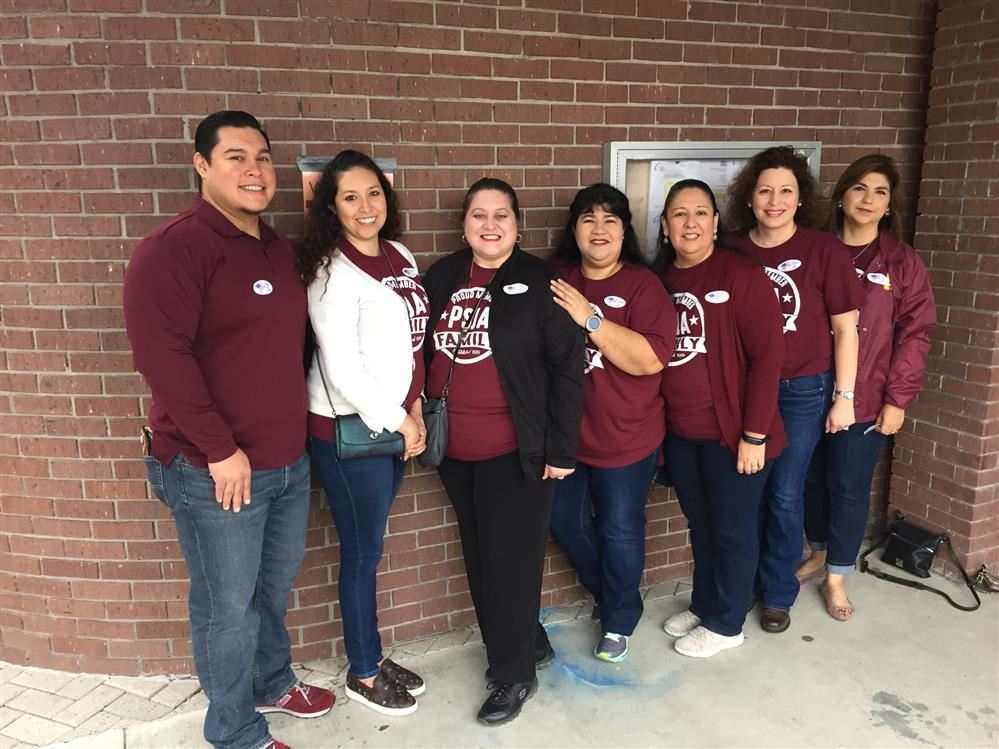 Austin Middle School Votes - Science Team took the time with their busy schedule during their conference period to place their vote.