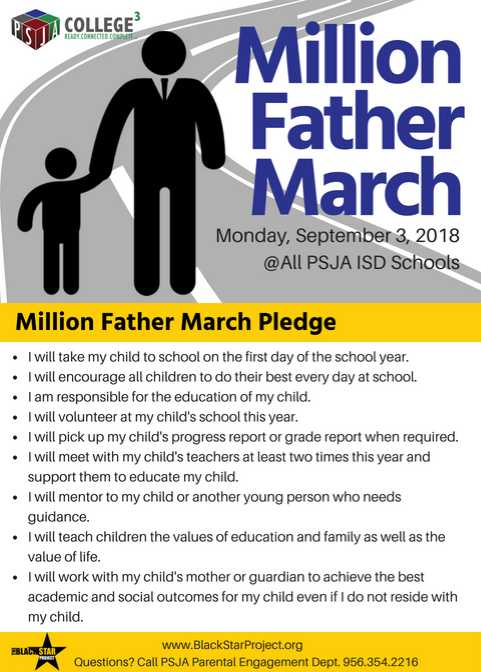 Million Father March Pledge.
