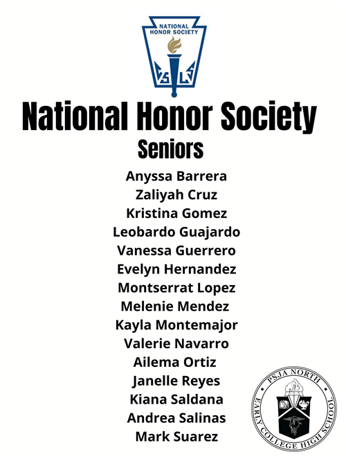 National Honor Society Seniors