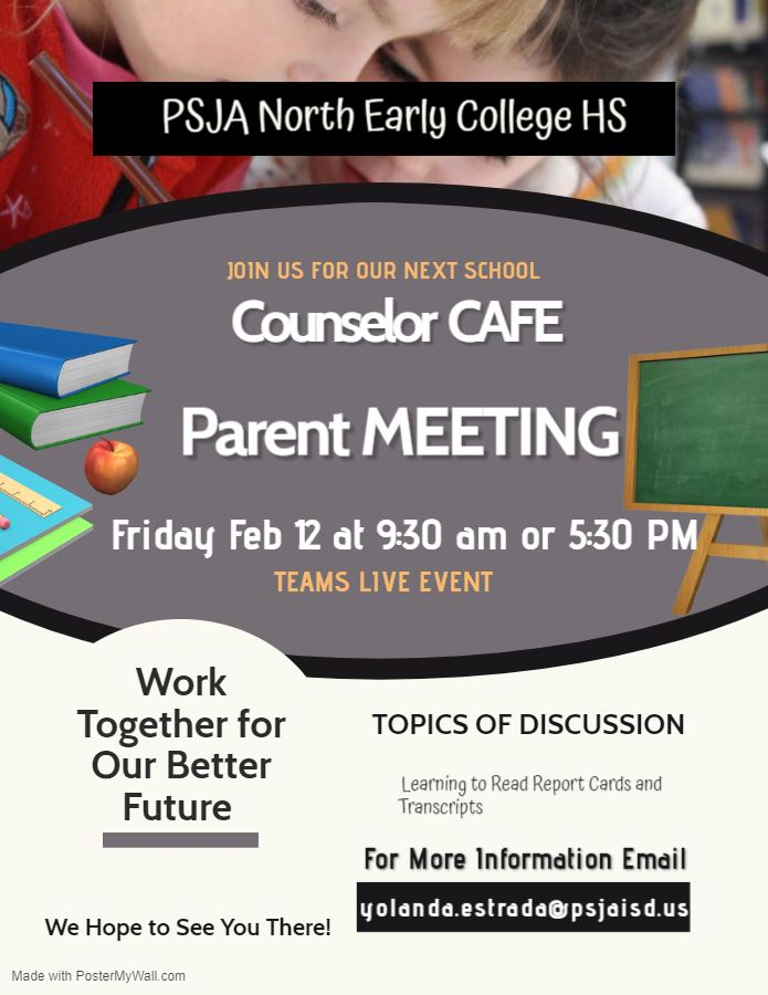 Counselor Café this Friday!