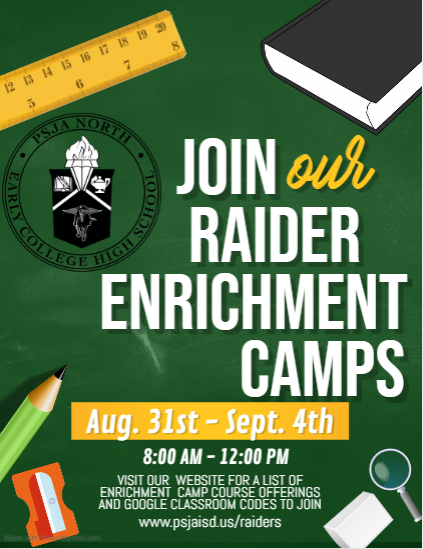 Join our Raider Enrichment Camps