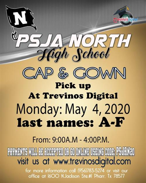CAP & GOWN PICK UP