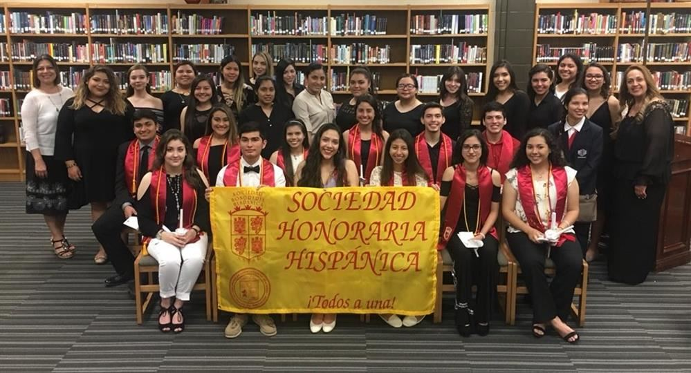 Congratulations to our newest members of the PSJA NORTH Sociedad Honoraria Hispanica!