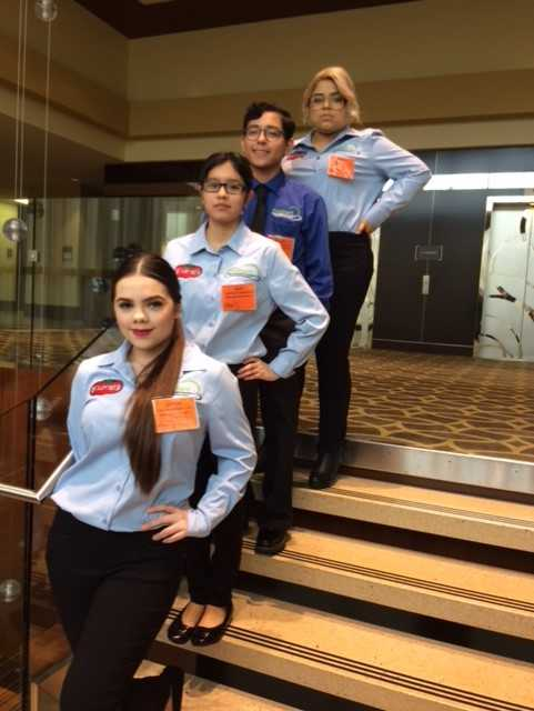 CONGRATULATIONS to our Culinary Arts students Adriana Alvarez, Ricardo Mata, Abril Montero, and Larissa Garobay for placing 4th and being Texas ProStart Management State Qualifiers! Great job students! #RaiderPride